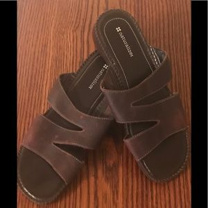 Naturalizer Leather Sandals (Brown) - 9 1/2M